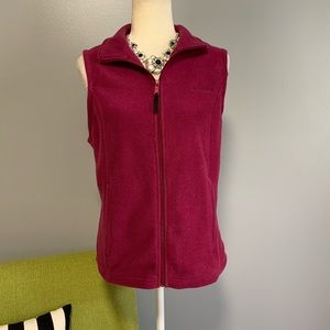 Columbia Fuchsia Fleece Zip Up Vest C3